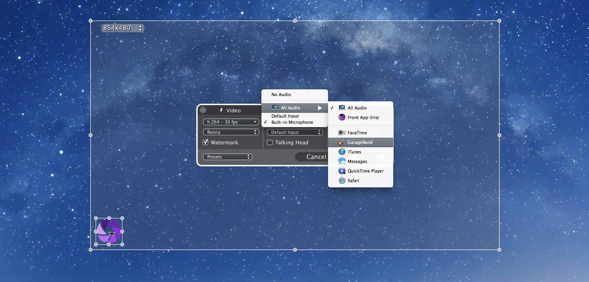 Iris - Screen Recorder for Mac | Static Z Software